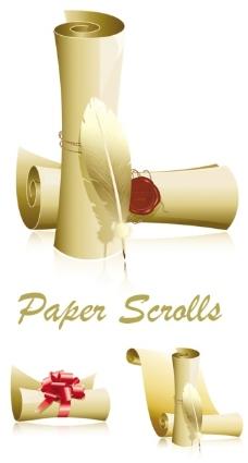 精美卷纸矢量素材