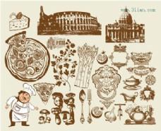 欧式餐厅图案