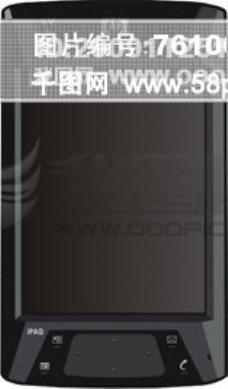4700 黑色矢量手机