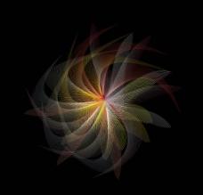 迷幻花纹背景图片