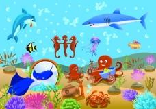 热闹的海底世界