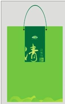 绿色手提袋图片