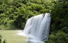 桃源河瀑布图片