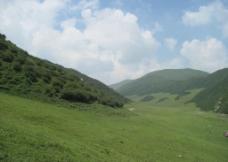 蓝天白云青山绿水图片