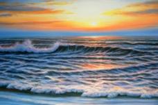 日出大海图片