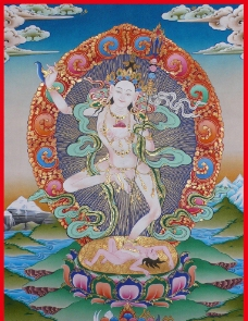 五行瑜伽母图片