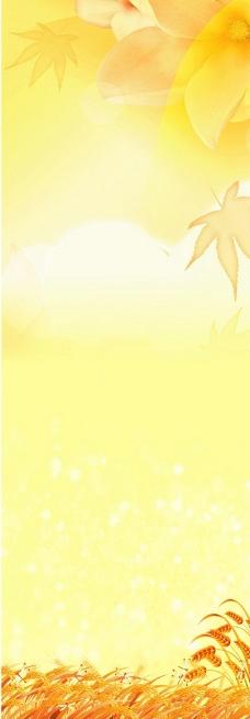 秋叶X展架图片