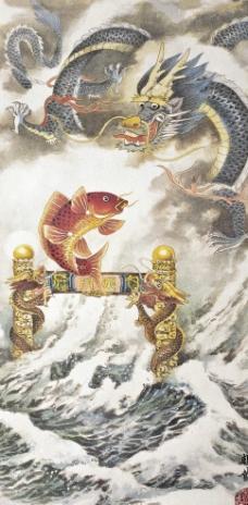 鲤鱼跳龙门_素描_沈若_中央美术学院_ta的作品_艺术