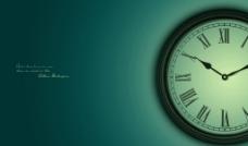 蓝色时间的钟图片