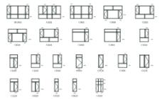 塑钢窗结构尺寸图图片