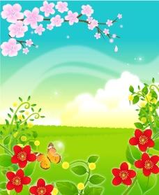 矢量鲜花背景图片