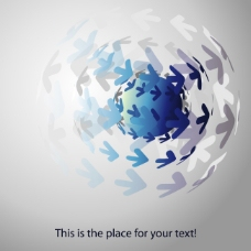 矢量素材水晶箭头地球