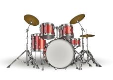 矢量素材架子鼓主题打击音乐