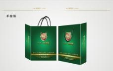 深绿手提袋设计图片