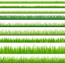 矢量素材绿色小草背景