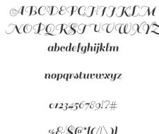 典雅飘逸英文字体