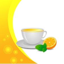 矢量素材鲜美橙汁元素