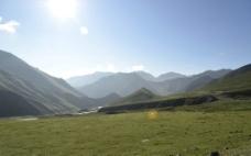 青海拉基山草原图片