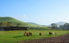 绿山风景图片
