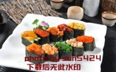 十全十美寿司拼盘图片