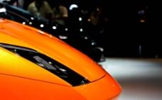 橘黄色兰博基尼车头图片