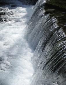 溪水激流图片