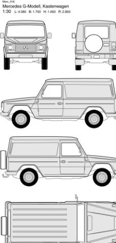 奔驰汽车线框图图片