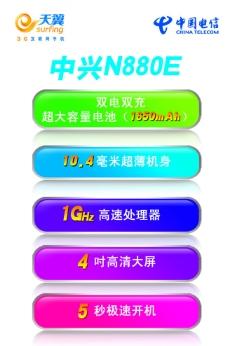 中兴N880E宣传单页图片