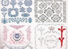 欧式花纹 古典花纹底纹图片