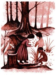 复古手绘插画图片