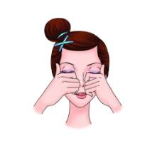 美容面部按摩图图片