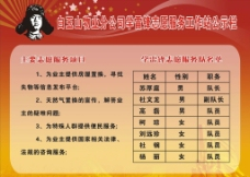 学雷锋志原服务公示栏图片
