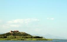 野鹅湖风景图片