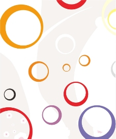 七彩几何圆圈图片