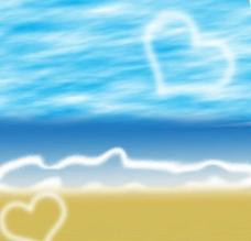 天空海洋沙灘圖片