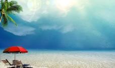 海滩背景素材图片