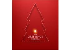 矢量素材星光圣诞树