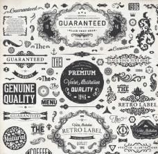 欧式花纹标签图片