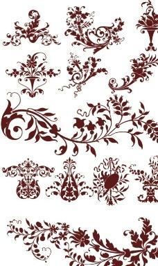 彩色欧式花纹图片