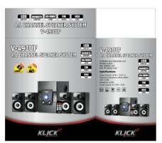 5 1声道音箱包装盒设计图片