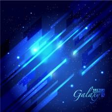 矢量素材华丽蓝色炫光璀璨背景
