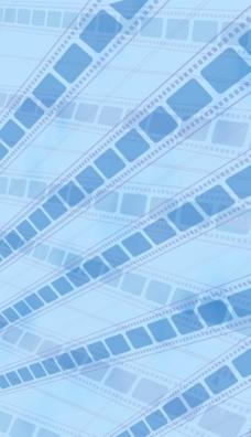 蓝色电影胶片图片