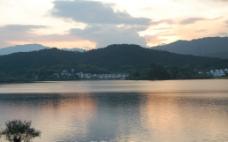 奇墅湖 傍晚景色图片