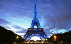 铁塔夜景图片