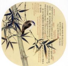 竹林栖禽图片