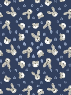 小兔小熊小花图片