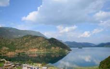 泸沽湖之湖光山色图片
