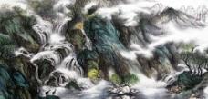 山泉石上流图片