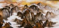 秋山云雾图片