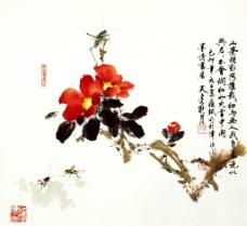 山茶草虫图片
